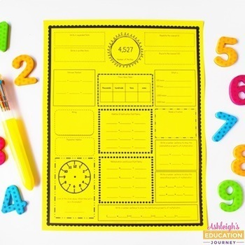 Number Of The Day For 3rd And 4th Grade By Ashleigh Tpt