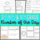 Number of the Day for 3rd, 4th Grade, & 5th Grade | Print and Distance Learning