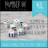 Number of the Day for 4th Grade Template 4.2B 4.2D 4.2E