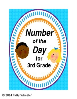 Number of the Day for Third Grade