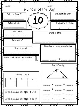 Math Daily Practice {For the entire year}