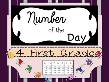 Number of the Day in English for First Grade