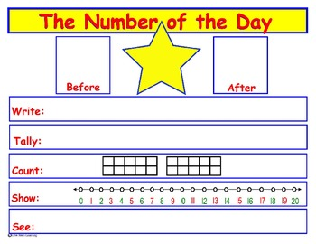 Number of the Day - poster/journal page
