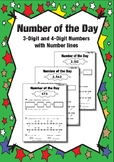 Rounding with Number Lines (3 and 4 Digit Numbers)