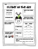 Number of the Day with Panda Bear Theme