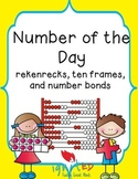 Number of the Day with Rekenreks, Number Bonds and Ten Frames