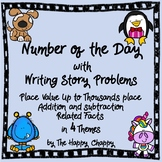 Number of the Day with Writing Story Problems for Addition and Subtraction