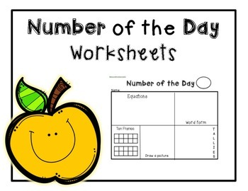 Number of the Day worksheets for math center or morning work