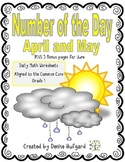 Number of the Day:Daily Math Worksheets {April and May Edition}