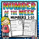 Numbers 1-10 Worksheets: Number of the Week