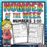 Numbers 1-10 Worksheets: Number of the Week