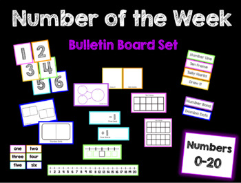 Number of the Week Bulletin Board Set