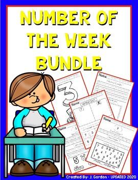 Number of the Week Bundle: Numbers 1-10 - Number Worksheets/Printables