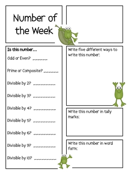 Number of the Week--FrogTheme