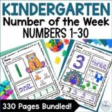Pre-Kindergarten Math Number Sense Numbers 1-30 Bundle
