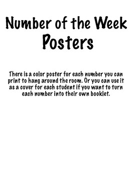 Number of the Week Posters