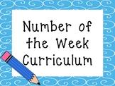 Number of the Week Printable Curriculum. Preschool-PreK Numbers and Math.