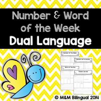 Number of the Week & Word of the Week *Dual Language*