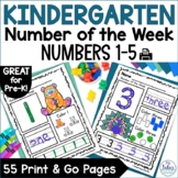 Number Sense Morning Work Pre-Kindergarten Math Numbers 1-5 Number of the Week