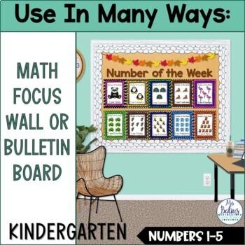 Number Sense Morning Work Pre-Kindergarten Math Numbers 1-5 Number of the Week