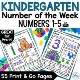 Number Sense Morning Work Pre-Kindergarten Math Numbers 1-