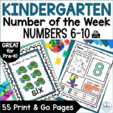 Pre-Kindergarten Math Numbers 6-10 Number of the Week Zoo Theme