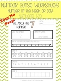 Number of the Week or Day 1-20: Number Sense NO PREP Printable Worksheets