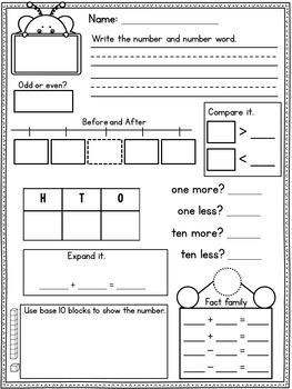 Number of the Day Kindergarten