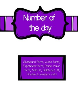 Number of the day Activity