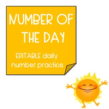 Number of the day - Daily Number Practice (EDITABLE)