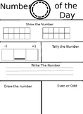 Number of the day- Número del Dia EDITABLE