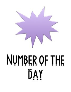 Number of the day blank