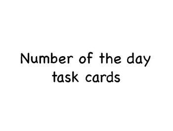 Number of the day task cards.