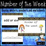 Number of the week activity worksheets for older students