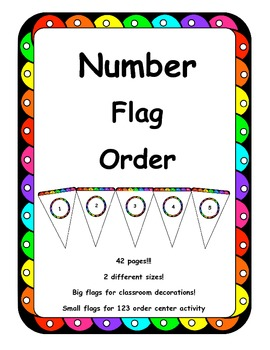 Number order and Number identification - math center!