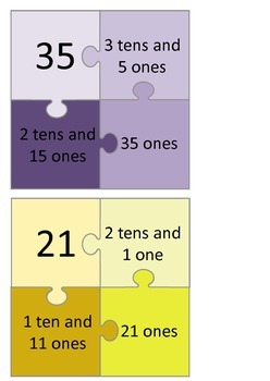 Number partitioning jigsaws