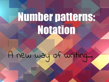 Number patterns - Notation