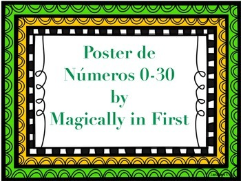 Number posters 0-30 {spanish} {espanol}
