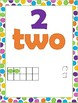 Number posters 1-20 (Colorful Dots)