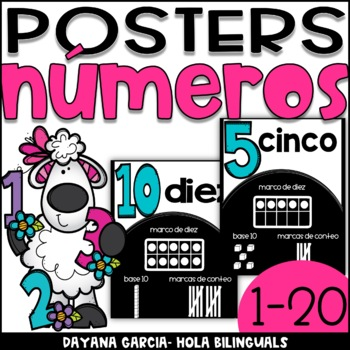 Number posters- números SPANISH