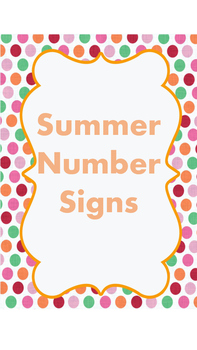 Number posters with ten frames. Summer theme!