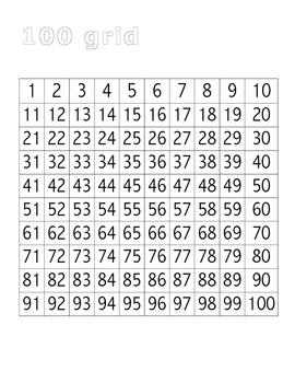 Number practice: 1 to 100