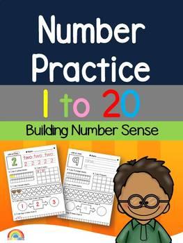 Number practice 1 to 20 / Number Sense / Ten frames / Numb