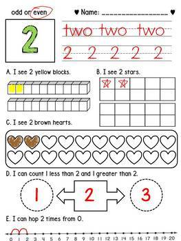 Number practice 1 to 20 / Number Sense / Ten frames / Number line / Counting