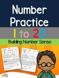 Number practice 1 to 20 / Number Sense / Ten frames / Numb