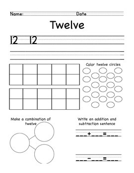Number practice pages
