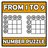 Number puzzle - From 1 to 9
