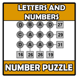 Number puzzle - Letters and numbers