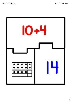 Number puzzle for teen numbers