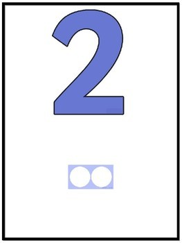 NUMBER ICON POSTERS (NUMBERS TO 50)